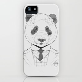 Geometric Panda iPhone Case