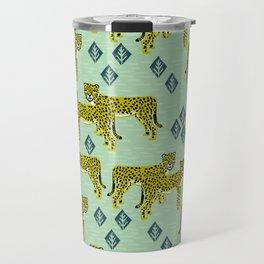 Cheetah safari nursery kids animal nature pattern print gifts Travel Mug