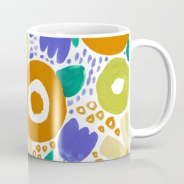 Bold Abstract Floral Inspired Pattern (Harvest Colors) Coffee Mug