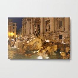 Trevi Fountain - Rome, Italy Metal Print