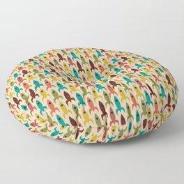 Little Rockets - Atomic Age Mid-Century Modern Pattern in Mid Mod Multicolour  Floor Pillow