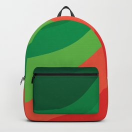 Groovy Christmas Swirls Backpack