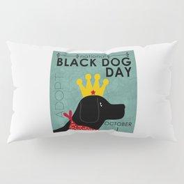 Black Dog Day Royal Crown Pillow Sham