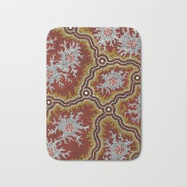 Aboriginal Art Authentic - Mountains Bath Mat