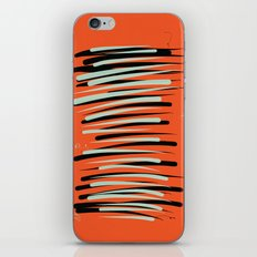 Orange Abstractions iPhone & iPod Skin
