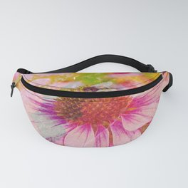 Pink Flower And The Bee Fanny Pack