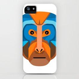 Rhesus Macaque Head Flat Icon iPhone Case