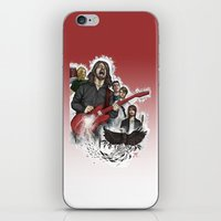 foo fighters iPhone & iPod Skins featuring Foo Fighting by Jaimie