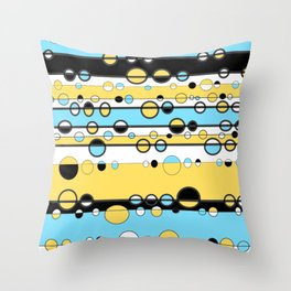 70's Space Buble Throw Pillow