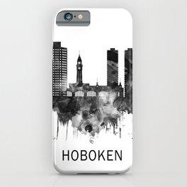Hoboken New Jersey Skyline BW iPhone Case