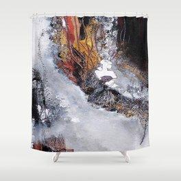 Metallic Haze - Mixed Media Acrylic Abstract Modern Fine Art, 2009 Shower Curtain