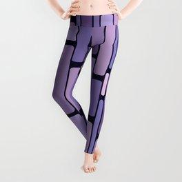 Retro Blocks Lavender Leggings