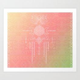 Tribal Moon Goddess Art Print