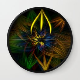 Colour twirls Wall Clock