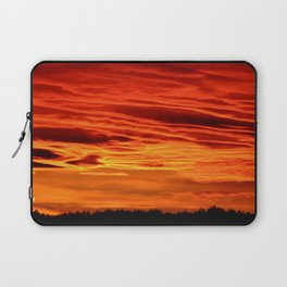 Flame Coloured Sunset Sky Laptop Sleeve