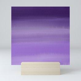 Modern painted purple lavender ombre watercolor Mini Art Print