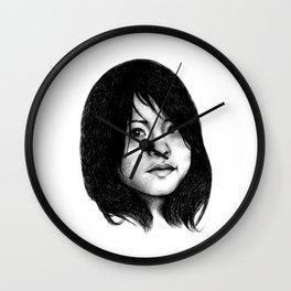 Asháninka girl Wall Clock