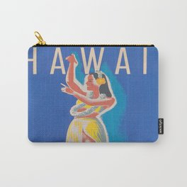 Hawaii Hula Girl Vintage Travel Poster Carry-All Pouch