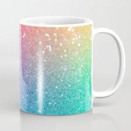 Glitter Rainbow Mermaid Sparkle Ombre Coffee Mug