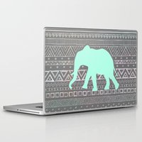 mint Laptop & iPad Skins featuring Mint Elephant  by Sunkissed Laughter
