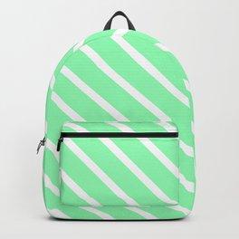 Mint Diagonal Stripes Backpack
