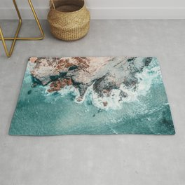 Ocean Print, Ocean Art, Printable Art, Waves Print, Ocean Rocks, Aerial Photography, Coastal Ocean Printable Wall Art Rug