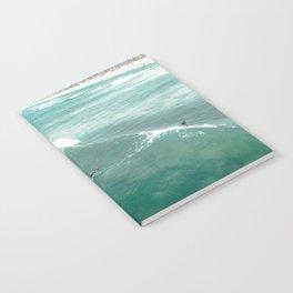 California Surf // Coastal Spring Waves Teal Blue and Green Ocean Huntington Beach Views Notebook