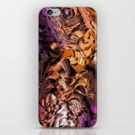 Alien Markings (gold & magenta) iPhone Skin