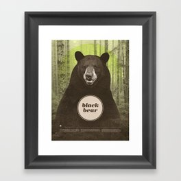 Black Bear Framed Art Print