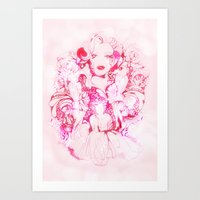 marylin monroe Art Prints featuring Marylin Monroe by FlowerMoon Studio