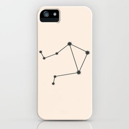 Libra Zodiac Constellation Charcoal iPhone Case