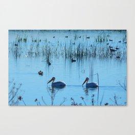 A Pleasant Swim Canvas Print
