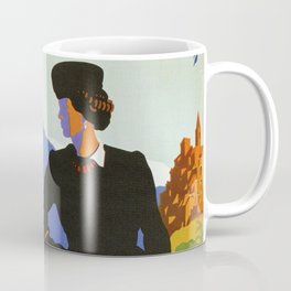 Abruzzo Italian travel Lady on a walk Coffee Mug