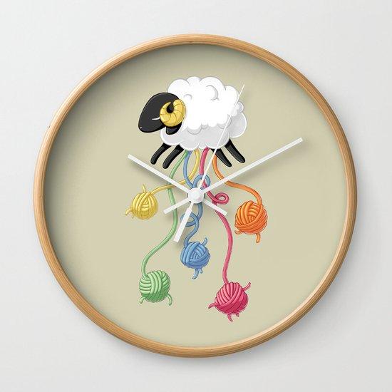 Wool Thread Wall Clock
