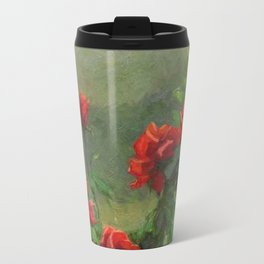 Red Roses in Soft Sunlight Travel Mug