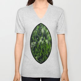 Forest pattern Unisex V-Neck