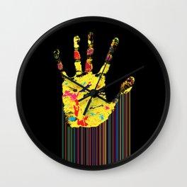 Barcode hand Wall Clock