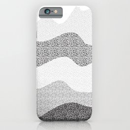 Gray Wave iPhone Case
