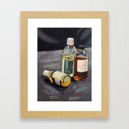 Don't drink chemicals Framed Art Print