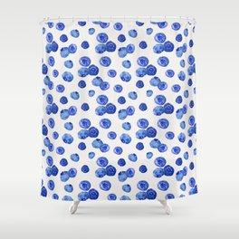Indigo Blueberries Shower Curtain