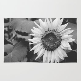Sunflower Black And White 2 Rug
