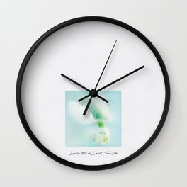 I am free, that's why I'm lost Wall Clock