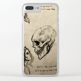 The Only Certainty pt II Clear iPhone Case