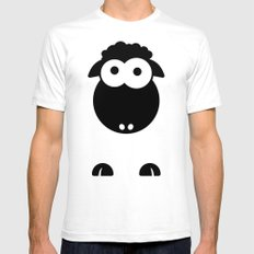 Minimal Sheep Mens Fitted Tee White 2X-LARGE