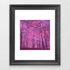 purple forest V Framed Art Print