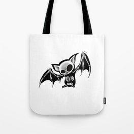 Skeleton bat Tote Bag
