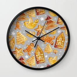 gingerbread delight Wall Clock