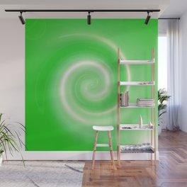 Green twirl Wall Mural