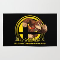donkey kong Area & Throw Rugs featuring Donkey Kong - Super Smash Bros. by Donkey Inferno