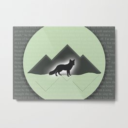 The Story of the Fox Metal Print